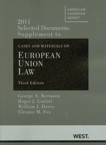 Selected Documents Supplement to Cases and Materials on...