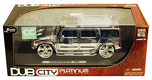 Jada Hummer H2, Platinum Chrome Toys Dub City Platinum 59549 - 1/24 Scale Diecast Model Toy Car ()