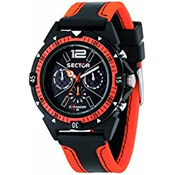 Sector Men's R3251197021 Expander90 Multi-Function Analog Leather Synthetic Watch