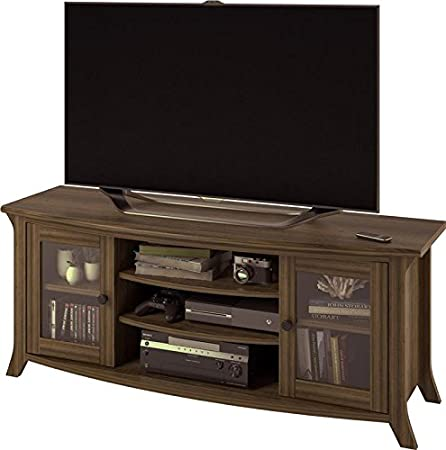Altra Furniture Oakridge TV Stand with Glass Doors for TVs up to 60 Homestead Oak
