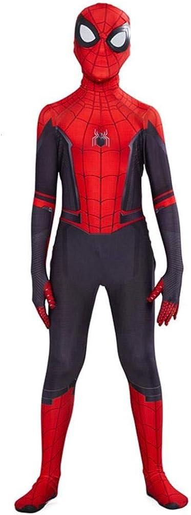 COSPLAY Disfraz de Spider-Man far from home para niños -Traje de cuerpo completo con mascara incluida