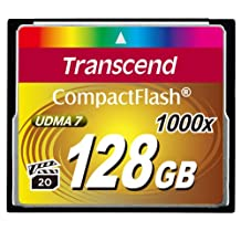 Transcend Information 128 GB Compact Flash Card (TS128GCF1000)