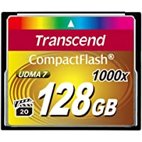 Transcend 128GB Compact Flash Memory Card 1000x (TS128GCF1000)