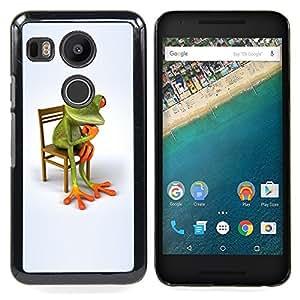 BullDog Case - FOR LG Google Nexus 5X - Philosophy Frog White Minimalist Wonder - Dise???¡¯???¡Ào para el caso de la cubierta de pl???¡¯????stico Chica