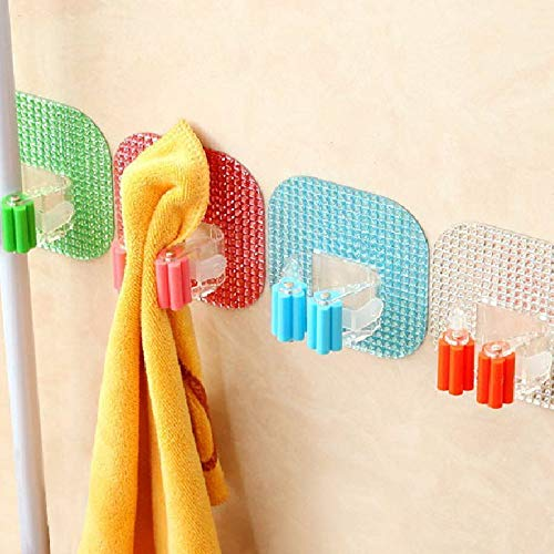 5X(Home Wall Mounted Kitchen Brush Storage Holder Hanger Mop Broom Bath Org D2F6 by Agordo