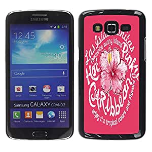 Dragon Case - FOR Samsung Galaxy Grand 2 - Be alike flower - Caja protectora de pl??stico duro de la cubierta Dise?¡Ào Slim Fit