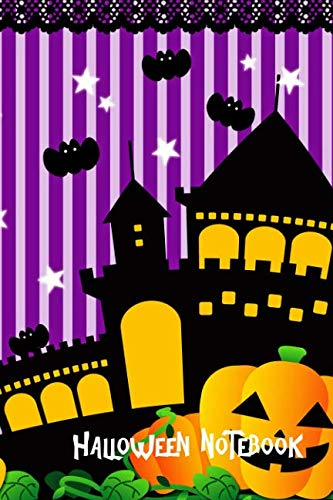 Halloween Notebook: Haunted House, Children's College Ruled Lined Pages Composition Book (6x9,140 -