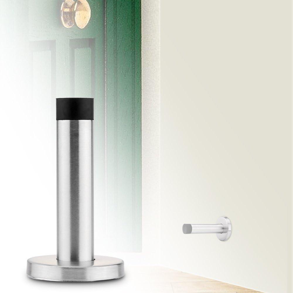 OurLeeme en acier inoxydable et en caoutchouc Porte darr/êt Projection Cylindre Stopper Doorstop Set