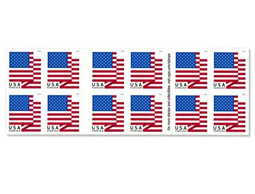 U.S. Flag - 2018 USPS Forever First Class Postage Stamp U.S. Forever 50 Cents Patriotic American Flag Sheets - Booklet of 20 Stamps (5 - (Booklets of 20 Stamps))