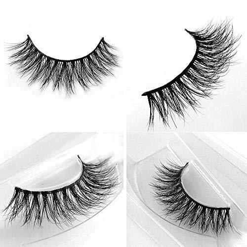 72a20ee3911 ... 3D Mink Lashes Hand-made Dramatic Makeup Strip Lashes 100% Siberian Fur  Fake Eyelashes ...