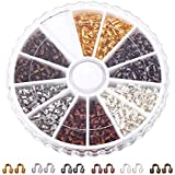 PandaHall Elite 6 Colors Brass Wire Guardian Wire Protector in Box for Jewelry Making 5x4x1mm