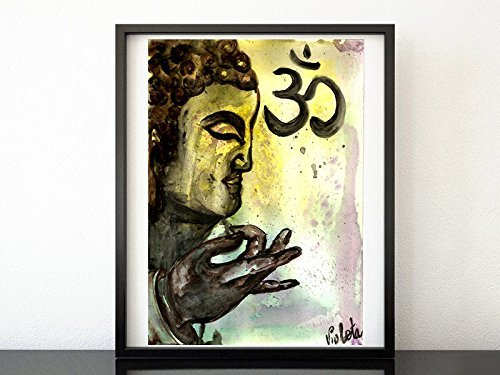 Amazon.com: Buddha Face Painting, Meditation Buddha, Original ...