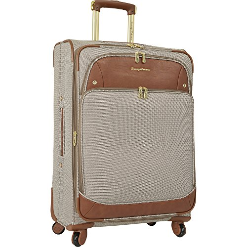 Tommy Bahama Expandable Spinner Suitcase Luggage Suitcase, Brown Lurex