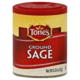 Tone's Mini's Sage, Ground, 0.25 Ounce (Pack of 6)