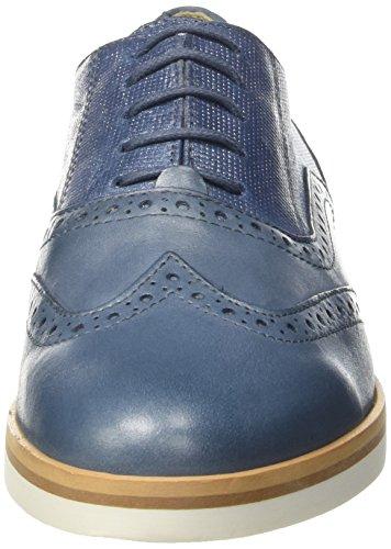 Cordones Mujer D Zapatos Denimc4008 G Oxford Azul de para Geox Janalee 8XZOwxOS