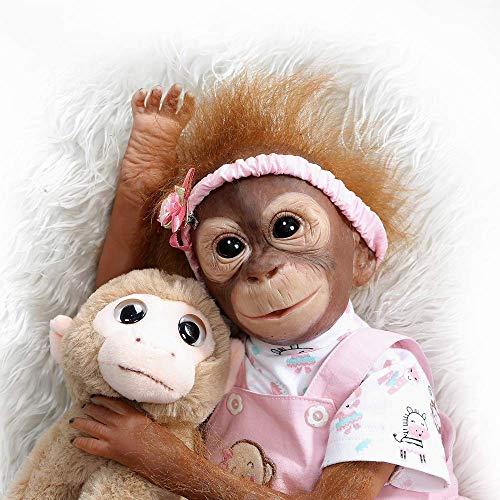 ZQDoll Reborn Monkey Silicone Do...
