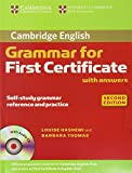 Grammar For First Certificate. Cambridge English (with Answers and audio CD) (Cambridge Grammar for First Certificate, Ielts, Pet)
