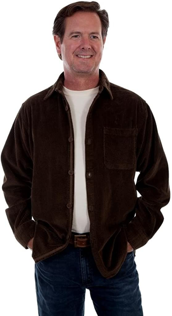 Mens New Scully Wide Wale Cord Western Cozy Comfortable Shirt Jacket Oregano