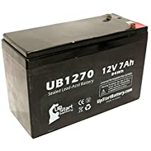 APC BACK-UPS CS 500 BK500 Battery - Replacement UB1270 Universal Sealed Lead Acid Battery (12V, 7Ah, 7000mAh, F1 Terminal, AGM, SLA) - Includes TWO F1 to F2 Terminal Adapters
