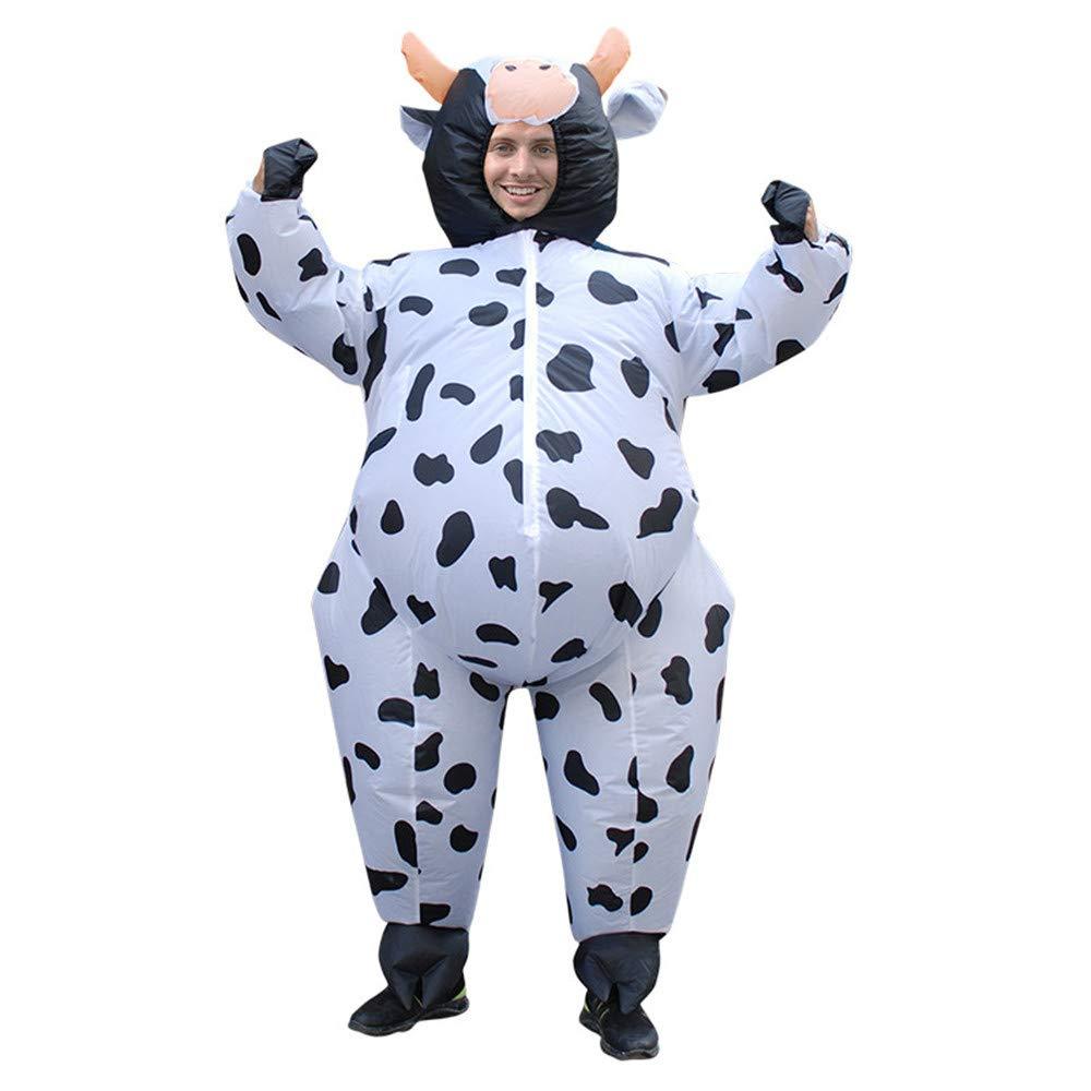 Amazon.com: Disfraz de vaca hinchable para adulto, unisex ...