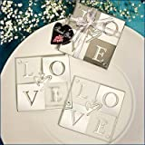 Love Shines Through Coaster Set Favors (set of 2), 60 by FashionCraft