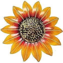 "Sunflower Decor Metal Wall Plaque (10"")"