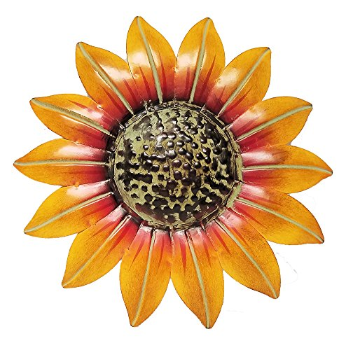"Sunflower Decor Metal Wall Plaque (10"")"