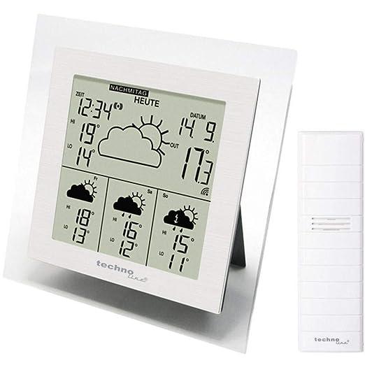 Technoline WD 4016 Funk Wetterstation Mehrtagesvorhersage Außensensor Thermomete