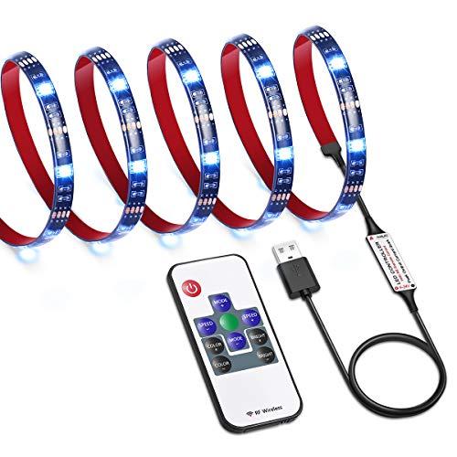 AMIR Upgraded TV Strip Light, 30 LED 3.3ft TV Backlight Strip with Remote, USB Bias Monitor Lighting, 19 Modes 20 Color Changing Bias Lighting for TV Desktop PC