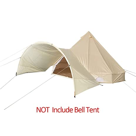 Playdo Cotton Canvas Bell Tent Awning Sun Shade Shelter Canopy for Outdoor C&ing Tent Beige Color  sc 1 st  Amazon.com & Amazon.com : Playdo Cotton Canvas Bell Tent Awning Sun Shade ...