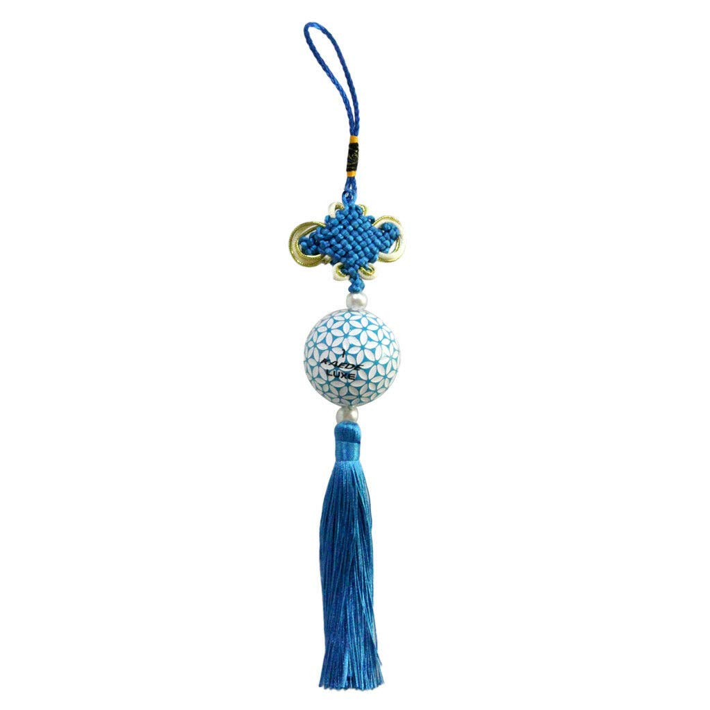 Chinese Knot Tassel Chinese New Year Decoration Lucky Oriental Pendant Decor | Color - Blue