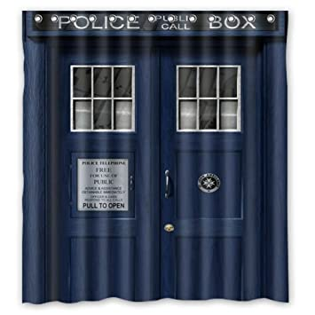Scottshop Custom Doctor Who Tardis The Shower Curtain High Quality Waterproof Polyester Fabric Bathroom
