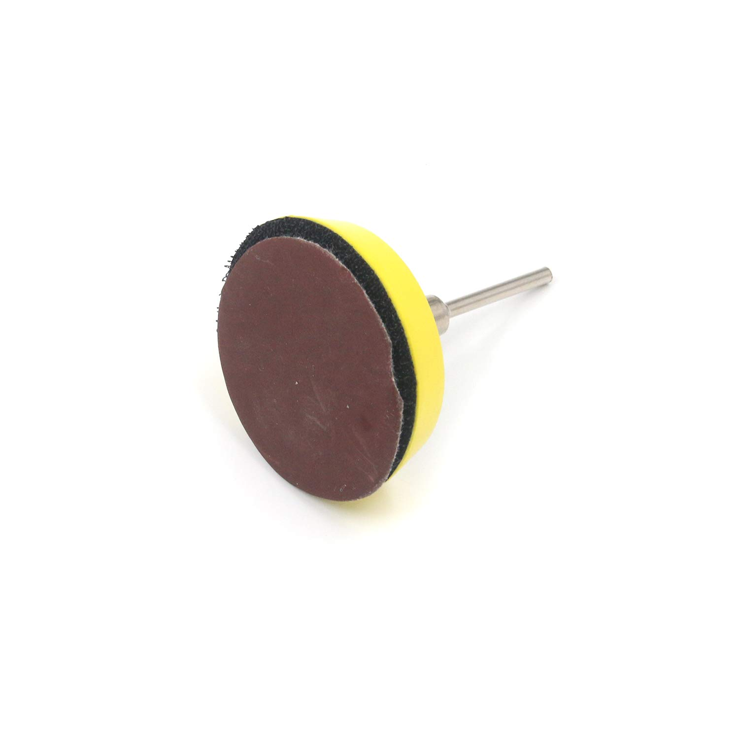 Geesatis 100 PCS 2 Sanding Disc Sandpaper Round Sand Sheets Grit with Backer Plate and Shank