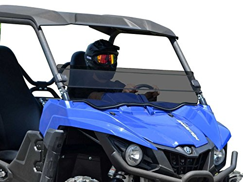 Installs in less than 5 minutes! SuperATV Clear Standard Polycarbonate Half Windshield for Yamaha Wolverine X4 2018+