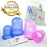 Anti Cellulite Silicone Vacuum Massage Therapy Suction Cupping Cups - Set of 4