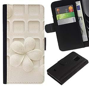 For Samsung Galaxy S5 Mini / Galaxy S5 Mini Duos / SM-G800 !!!NOT S5 REGULAR! ,S-type® Flower Pattern Art Carved Pastel - Dibujo PU billetera de cuero Funda Case Caso de la piel de la bolsa protectora
