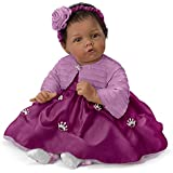"Elly Knoops Pretty As A Princess Poseable 19"" Baby Doll in Satin Dress by The Ashton-Drake Galleries"