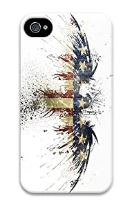 IMARTCASE iPhone 4S Case, Grunge Eagle Flag Graffiti PC Hard Plastic Case for Apple iPhone 4S and iPhone 4