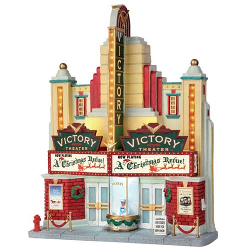 Lemax Village Collection Victory Theater Battery Operated # 55920 by Lemax