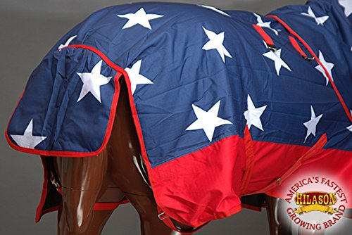 HILASON 78'' 1200D Waterproof Winter Horse Blanket Neck Cover Belly WRAP US Flag by HILASON (Image #8)