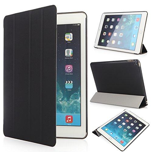 iHarbort® Apple iPad Air 2 Hülle - Ultra Slim Leder Tasche Hülle Etui Schutzhülle Ständer Smart Cover Case für iPad Air 2/ iPad 6 Generation , mit Schlaf / Wach-up-Funktion (iPad Air 2, schwarz)
