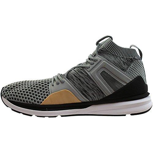 Puma Mens B.O.G. Limitless Hi Evoknit Grey & White Shoes IKrauLd7