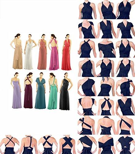 Fiesta Dama de Hi Dresses Cóctel Mangas Piso Transformer Vestidos Maxi Multi Vestido de Oscuro XS Morado de Longitud Sin lo Infinity de de Way Largo Mujer Honor XL Xx5Aq