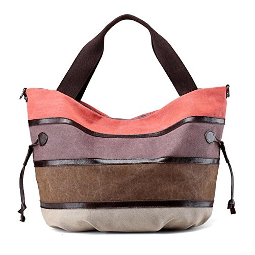 Bolsos Coffee Orange Lona De Mujer Purple Para Houyazhan color dw7p0dq