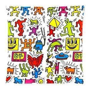 Diy-Hot Cute Keith Haring Pillowcase 18X18 Inch Zippered Pillow Cover