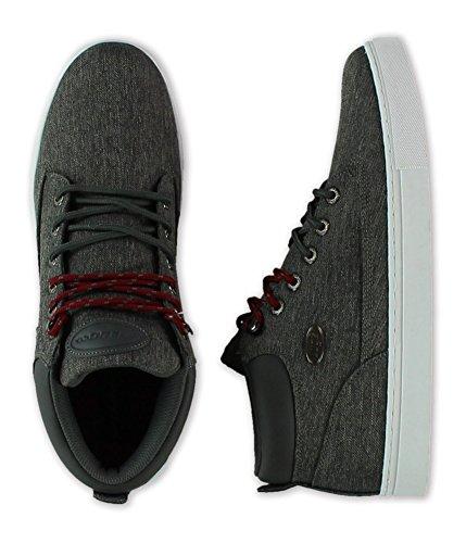 Lugz Mens Gypsum Tweed Sneakers Dkcharcoalwhiteburgundy 9