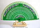 "Spanish Style Hand Painted Fans - 9"" x 16.5"" FB166"