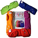 BEST Baby Bibs Waterproof with Snaps for Girls & Boys (5 Pack) - Waterproof Teething Dribble Baby Bibs Set - Perfect For Baby Gifts Basket NewBorn By CHARIS KID