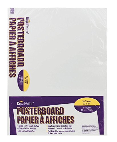 Office Depot Poster Boards, 22in. x 28in, White, Pack Of 10, - Board Poster Recycled