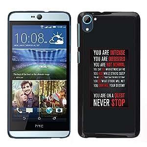 LECELL--Funda protectora / Cubierta / Piel For HTC Desire D826 -- nunca dejar de motivación inspiradora --